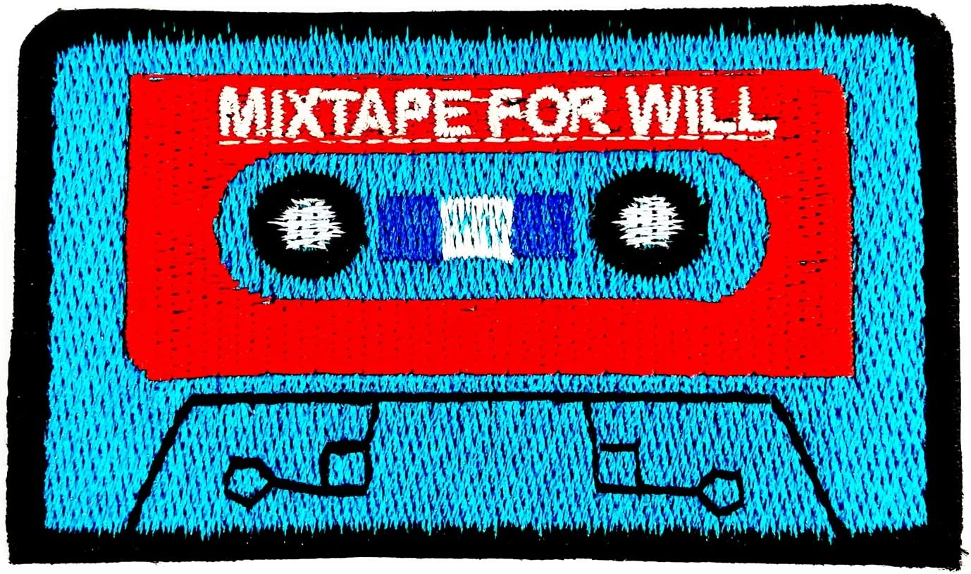 Cassette Tape Radio Music Classical 2.6X2 in MEGADEE Patch Cartoon Kids Symbol DIY Iron on Patch Iron-On Designer Patch Used for Gifts Crafts Jeans Clothing Fabric Cassette Tape 001