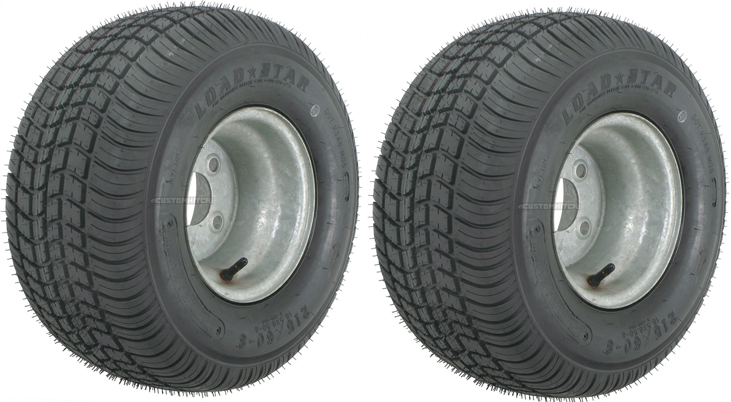 2-Pack Trailer Tires On Galvanized Rims 18.5x8.5-8 18.5 x 8.5-8 Load C 4 Lug by eCustomRim (Image #3)