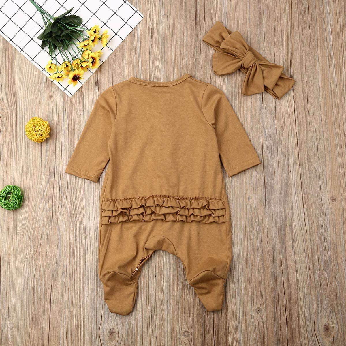 Baby Layette Jumpsuit Baby Bodysuit Unisex Baby Kids One-Piece Footie