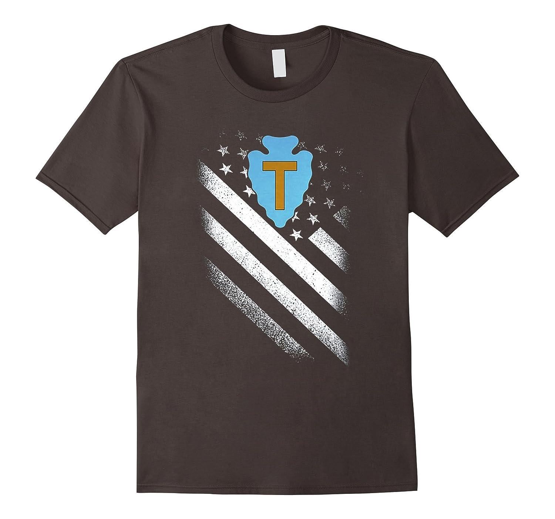 36TH INFANTRY DIVISION AMERICAN FLAG TSHIRT-Art