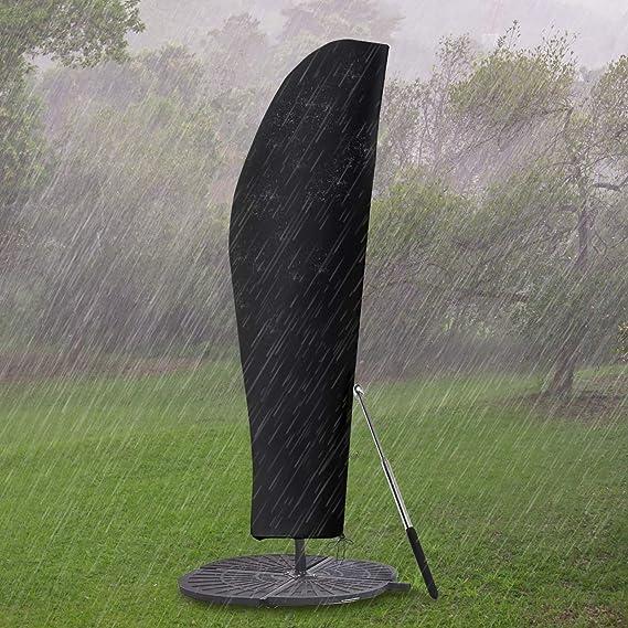 PATIO PLUS Copertura per ombrellone per Ombrellone Impermeabile Traspirante Copertura alla Protezione per Ombrellone da Giardino da 3m a 3,5m Nero