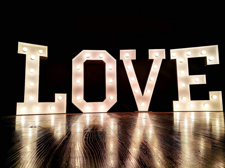 CUSTOM large letter lights big wedding love sign Large letter number light up letters Marquee Letter lights barn wedding decor