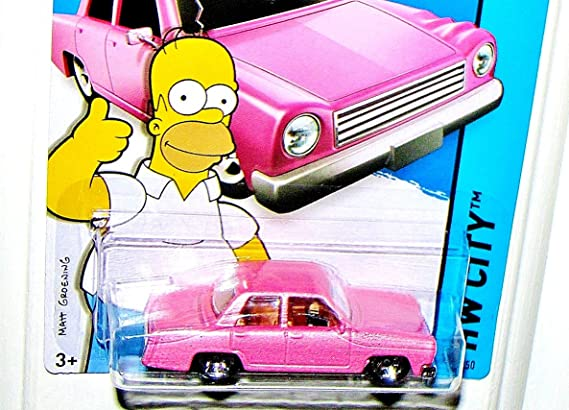 Hot Wheels 2015 HW City #56//250 The Simpsons Family Car Pink
