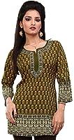 Indian Kurti Womens Tunic Top Printed Blouse India Clothes
