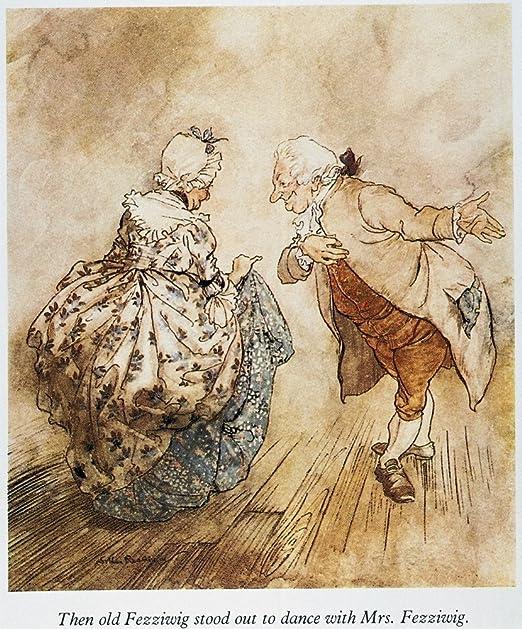 MR FEZZIWIG/'S BALL John Leech /'A Christmas Carol/' Dickens CHRISTMAS POSTER