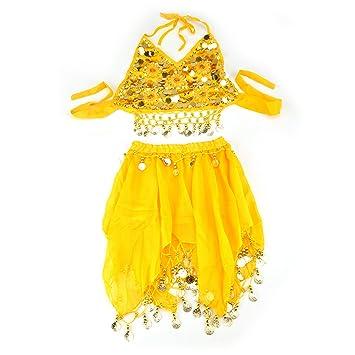 BellyLady - Disfraz de Danza del Vientre, Camiseta y Falda ...