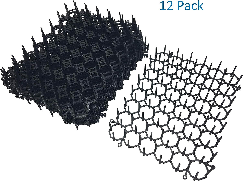 Cat Scat Mat Cat Repellent Mat Plastic Spike 5/×5/×1 Inches 12 Pack