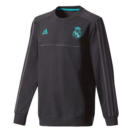 adidas SWT Y Sudadera Real Madrid, niños, Negro, 176: Amazon.es: Deportes y aire libre