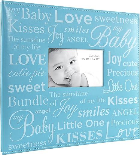 Blue MBI Expressions Post Bound Album W//Window 12inX12in-Baby
