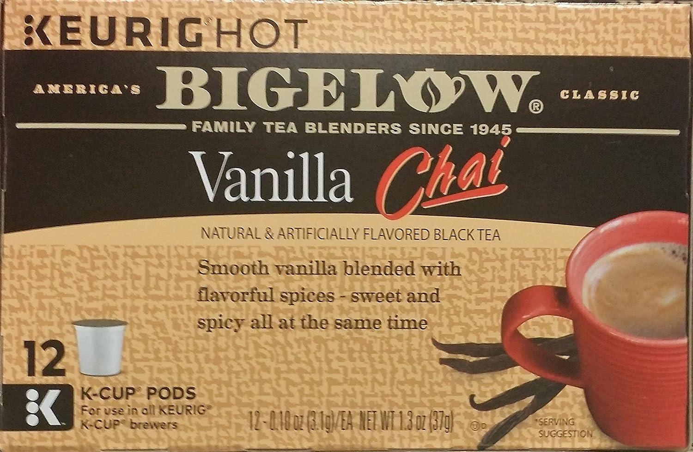 Bigelow Vanilla Chai Black Tea Keurig K-Cups, Caffeinated Black Tea 12 Count Box