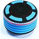 Waterproof Bluetooth Shower Speaker, Wireless Shower FM Radio LED Lighting Loudspeaker MP3 Used for Boat / Car / Showers / Bathroom / Pool / Beach / Outdoor (Blue)