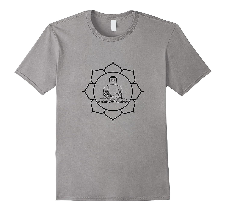 Buddha Lotus Flower t-shirt Buddhism Meditation Yoga Symbol-TJ