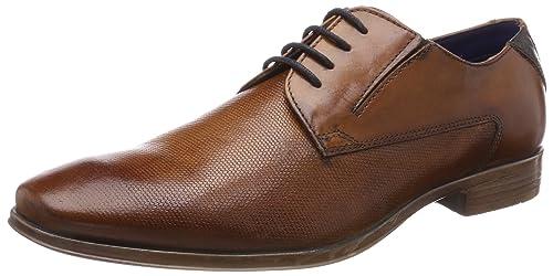 Bugatti 312294011100, Zapatos de Cordones Derby Para Hombre, Marrón (Cognac), 44 EU amazon-shoes el-negro Cordones