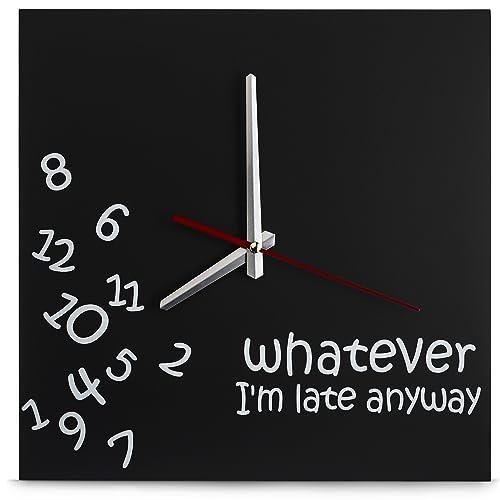 Decodyne Whatever I m Late Wall Clock