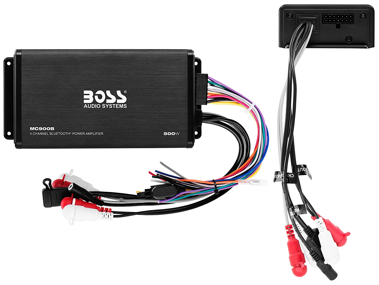 Boss Audio Ask902b6 Marine 500 Watt 4 Channel Amplifier 65 Inch Speaker Bluetooth System Remote Usb Auxiliary Interface Mount