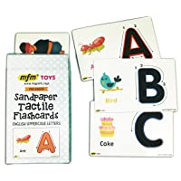 MFM TOYS Sandpaper Tactile English Letters Flashcards (Uppercase)