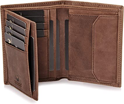 DONBOLSO/® Portefeuille Wien I Grand Portefeuille pour Homme I Portemonnaie en Cuir avec Protection RFID I Brun