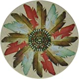 Thirstystone Stoneware Feather Medallion Coaster, Multicolor