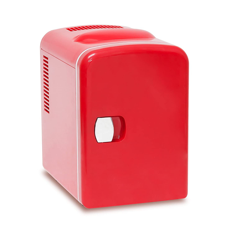 Relaxdays Mini Réfrigérateur env. 4L env. 28x 18x 25cm 12V Rouge 10020038