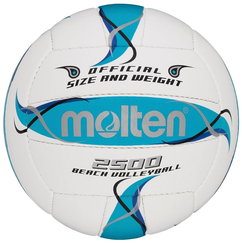 MOLTEN - Balón de Voleibol de Playa - 5, Color Blanco/Azul/Plata ...
