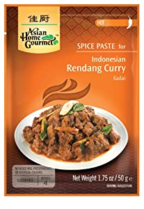 Asian Home Gourmet Spice Paste for: Indonesian Rendang Curry (Gulai) (3 Packets)