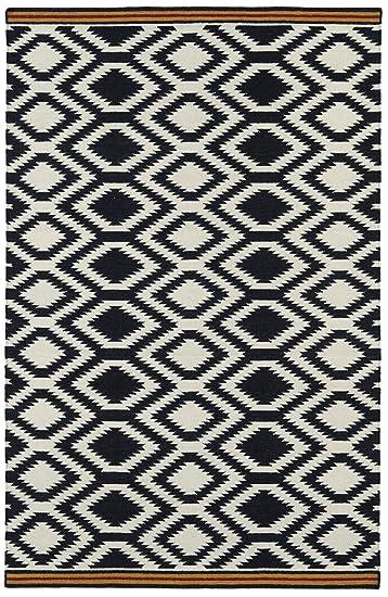 kaleen rugs nomad collection nom0402 black flatweave 2u0027 x 3u0027