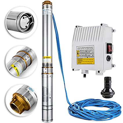 Happybuy Well Pump 1.5 HP 220V Submersible Well Pump 335ft ... on