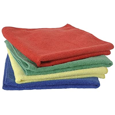 Eurow Microfiber Commercial Towels 16 x 16 in. 300 GSM 4-pack 4 colors: Automotive