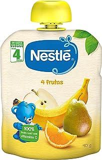 Nestlé Bolsita de puré de frutas, variedad 4 Frutas - Para bebés a partir de