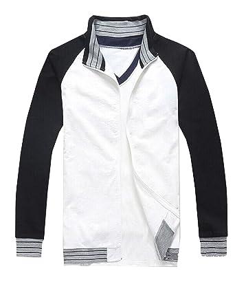 Amazon.com  LYLAS Cosplay Costume Black White Jacket with Long T ... 76424d0c4