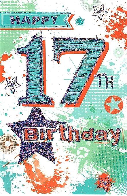 Tarjeta de felicitación de 17 cumpleaños con texto en inglés ...