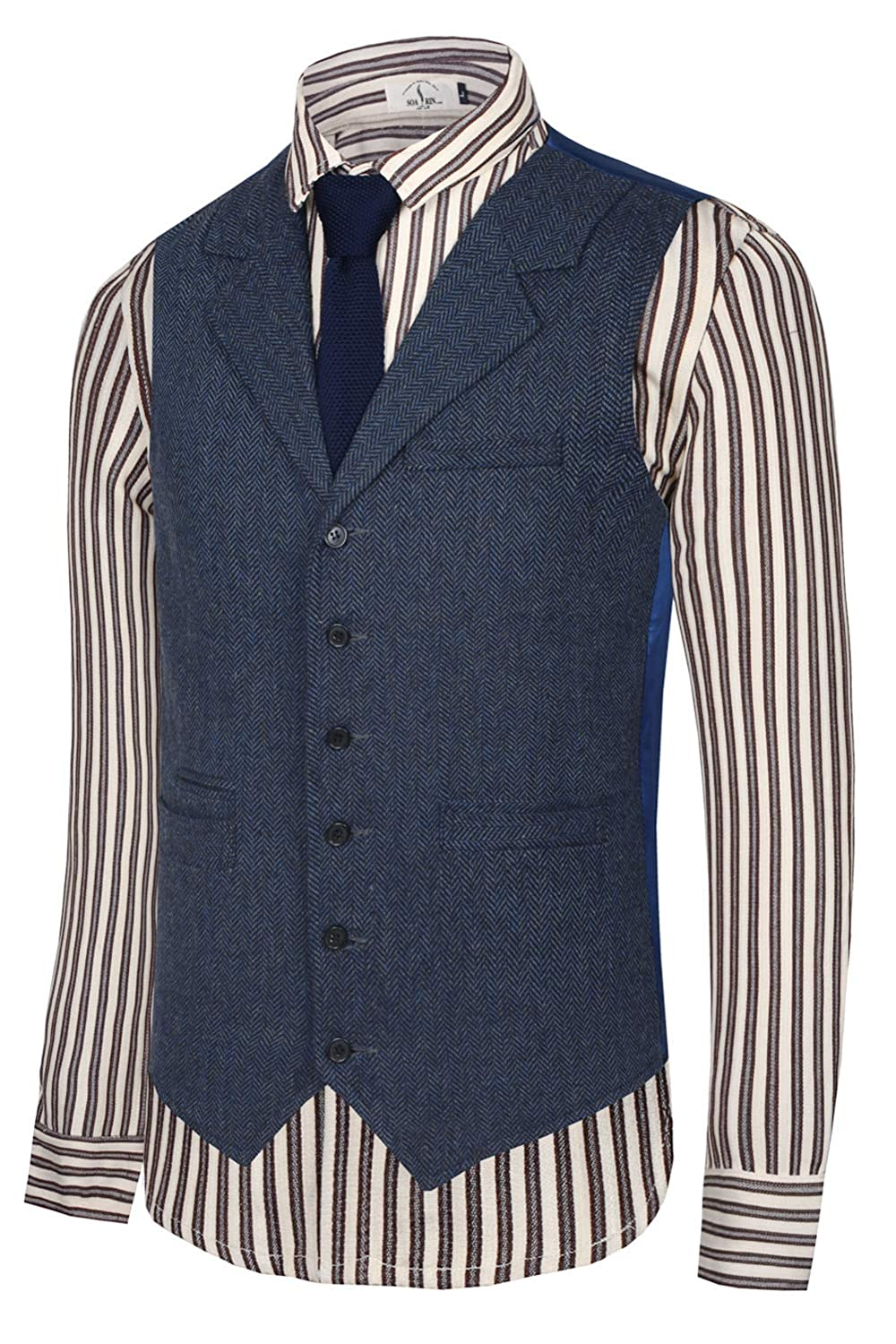 1920s Style Mens Vests Hanayome Mens Gentleman Top Design Casual Waistcoat Business Suit Vest VS17 $59.90 AT vintagedancer.com