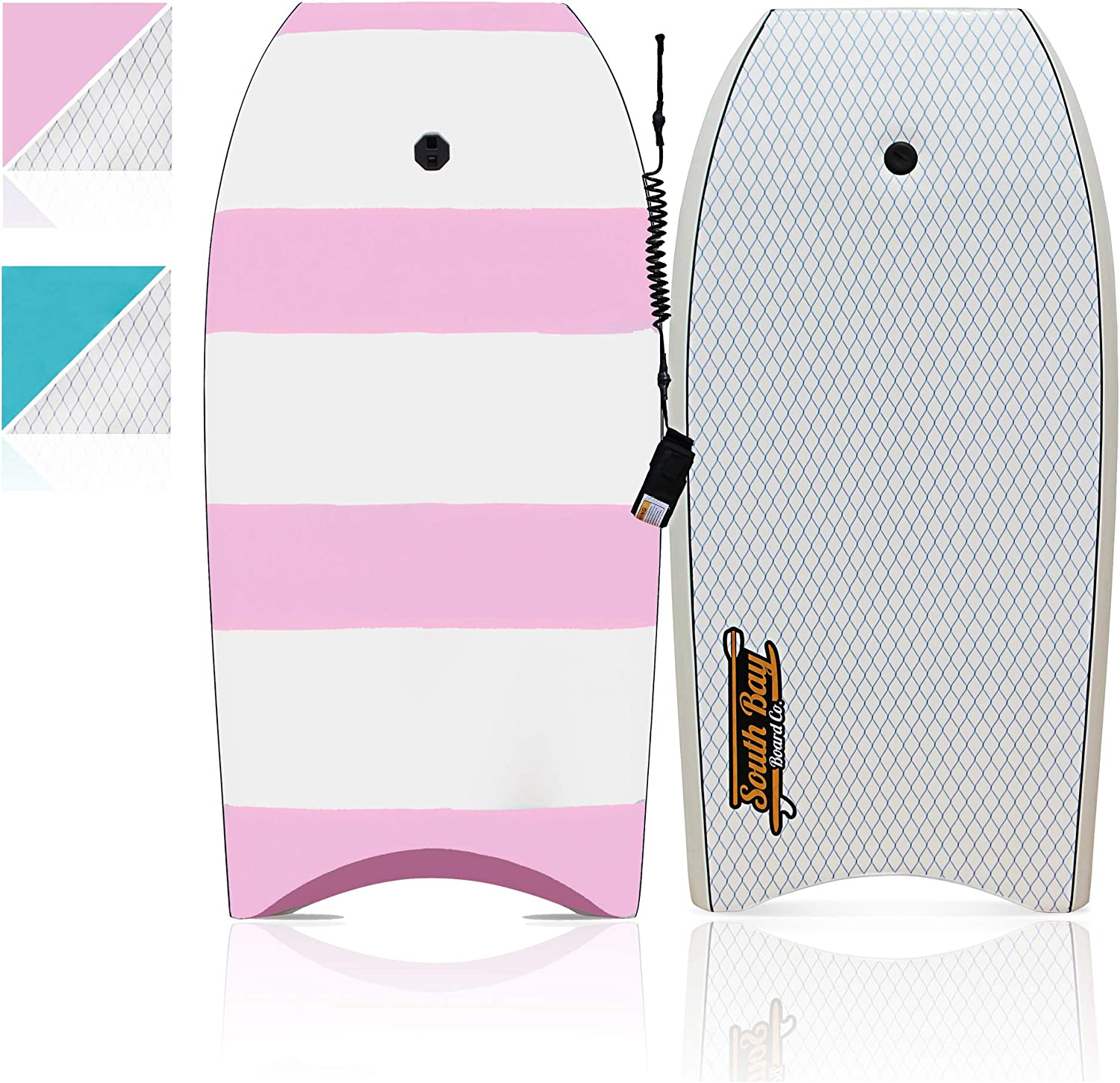 """South Bay Board Co Lightweight Body Board with EPS Core - 42/"""" Bodyboard Smooth Top Deck and Slick HDPE Bottom Deck Premium Beginner Body Board Durable"""
