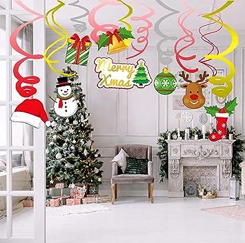 Addobbi Natalizi Da Appendere Al Soffitto.Sayala Confezione Da 30 Decorazioni Natalizie Natale Decorazioni Di Appendere A Parete Natale Turbinii Ghirlanda Decorazione A Spirale Da Appendere Per Natale Decor Amazon It Giochi E Giocattoli