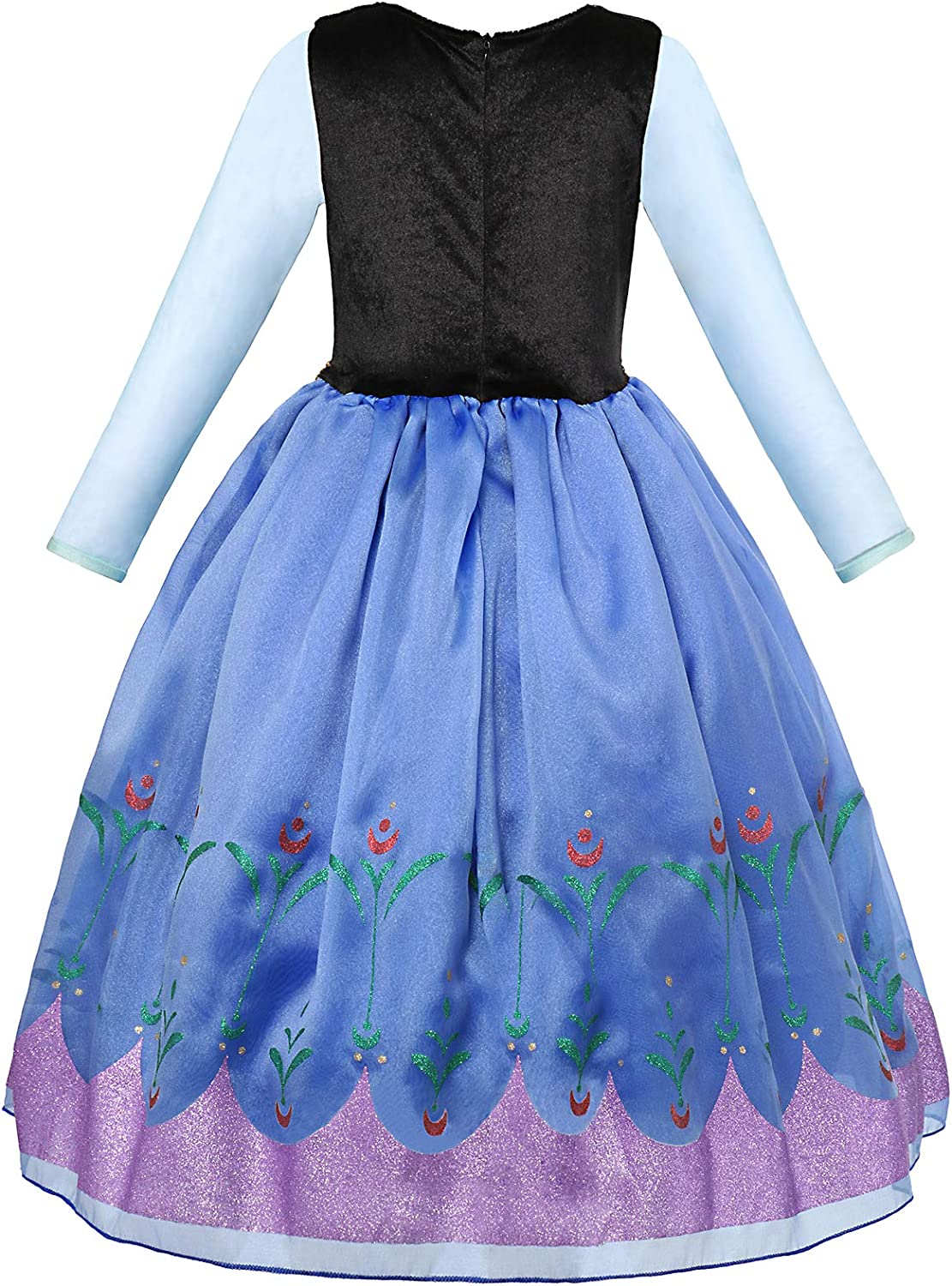 aibeiboutique Princess Costume Halloween Cosplay Deluxe Dress Up for Girls
