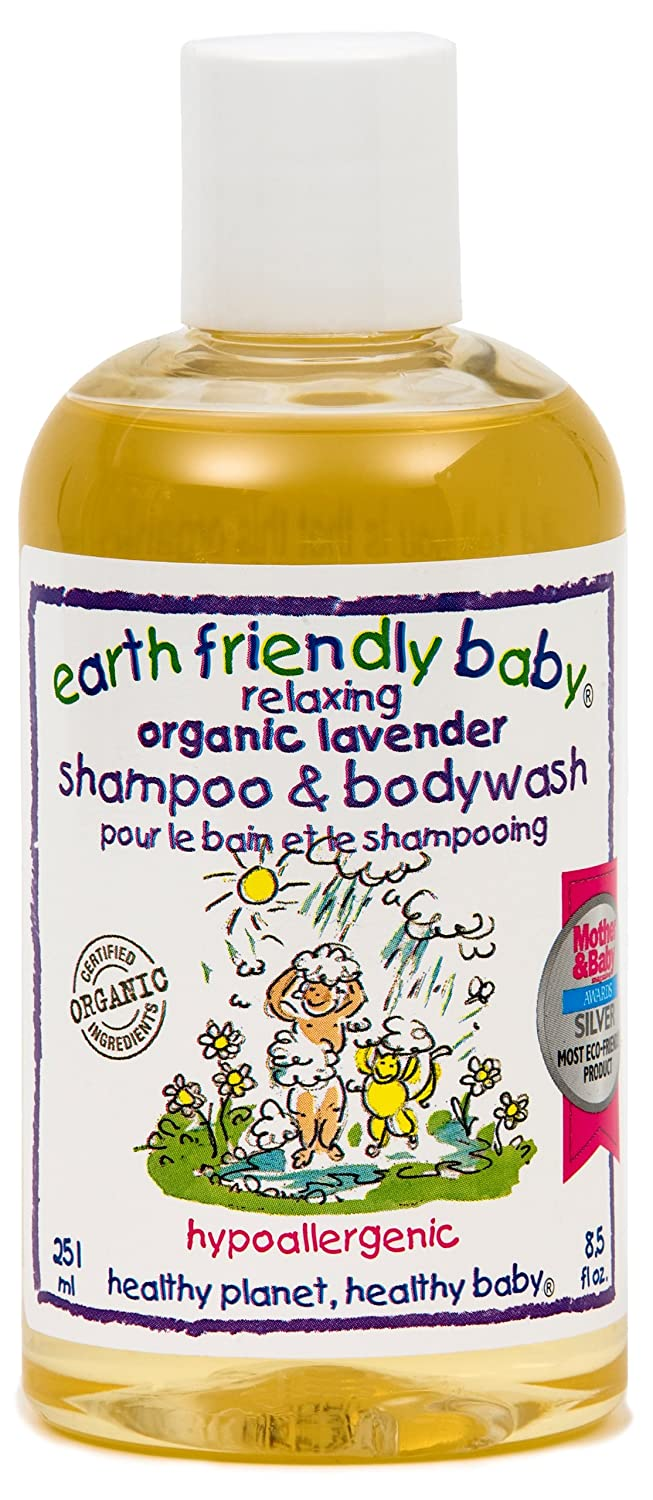 Organic Shampoo bodywash by Earth Friendly Baby - Sleeptime Lavender Queenswood Natural Foods Ltd EFB012