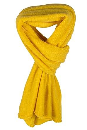 9a14b2f05eb21c Love Cashmere Damen 100% Kaschmir Schal - Gelb - Handgefertigt in  Schottland - UVP €