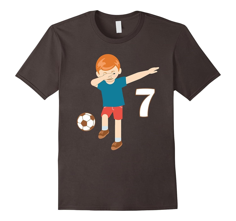 dc2e7c6cee9 Dabbing Dance 7 Years Old Birthday Shirt Boys Soccer Players-ANZ ...