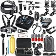 SmilePowo Accessory Kit for GoPro Hero 6,5 Black, HERO (2018),Hero Session,5,4,3,GoPro Fusion, SJCAN,XIAOMI,AKASO/ APEMAN/ DBPOWER,Lightdow,Campark,Sports Action Camera Kit