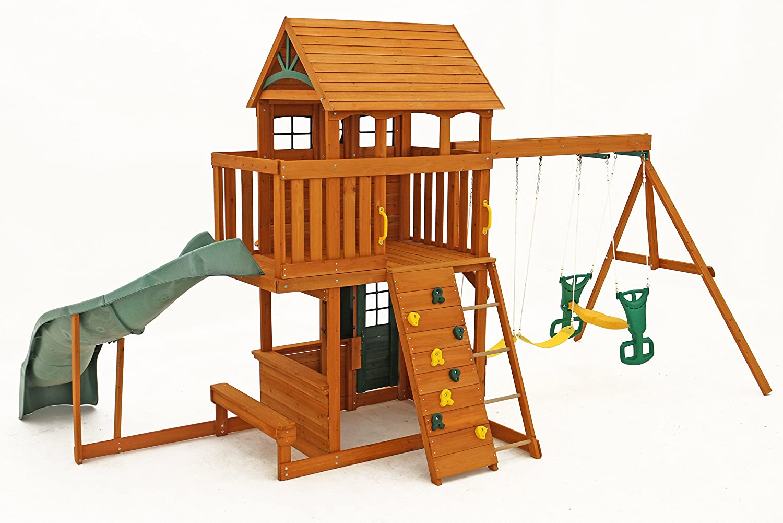 100 backyard discovery springboro swing set backyard