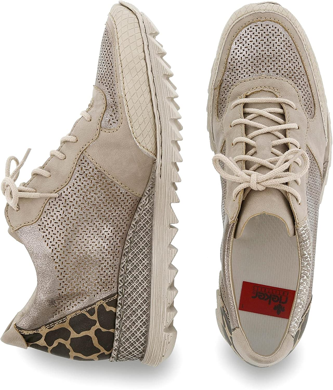 Rieker Damen M5335 Women Low Top Sneaker, Beige (Champignon IvyaZ