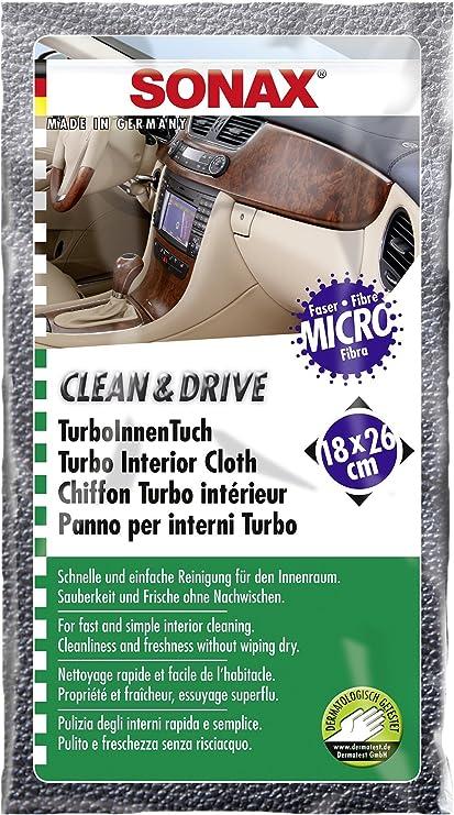 Sonax 04132000 Clean Und Drive Turboinnentuch 18 X 26 Cm Thekendisplay 6 Ml Auto