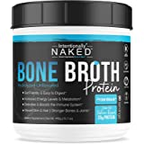 Pure Bone Broth Protein Powder - Zero Net Carbs - Supports Paleo & Keto Diets - Collagen Types 1, 2 & 3 – Grass-Fed, Pasture Raised Cows - Dairy Free, Non-GMO - 20g's Protein, Unflavored, 50 Servings