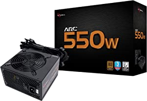 Rosewill Gaming Power Supply, Arc Series 550 Watt (550W) 80 Plus Bronze Certified PSU with Silent 120mm Fan and Auto Fan Speed Control, 3 Year Warranty - ARC550