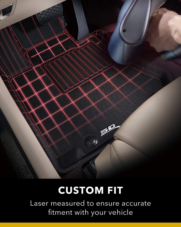Protezione per Tutte Le Condizioni Adattamento Personalizzato 3D MAXpider Tappetini per Auto per Mercedes-Benz Classe GLS SUV X166 2016-2019 Anteriore e Posteriore, Nero