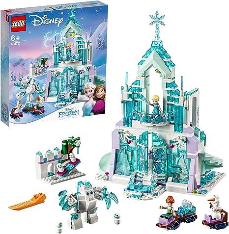 LEGO 43172 DisneyPrincess PalaciomágicodeHielodeElsa Juguete de Construcción