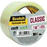 Scotch Packaging Tape Roll, Classic Transparent, 50 x 50 mm