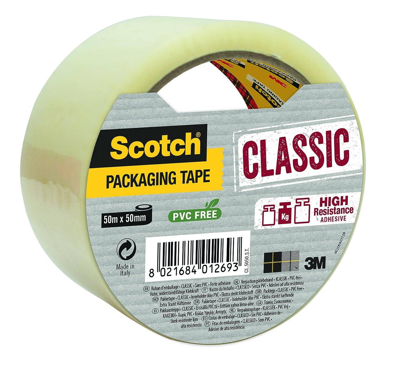 Scotch - Cinta de embalaje clá sica, color marró n en rollo individual color marrón en rollo individual 3M CL5050SB