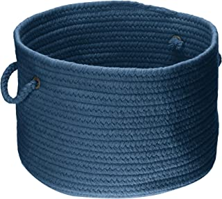 product image for Colonial Mills WL01 14 by 14 by 10-Inch Bristol Storage Basket, Federal Blue