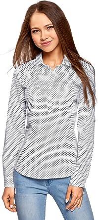 oodji Ultra Mujer Camisa Básica con Bolsillos en el Pecho: Amazon.es: Ropa y accesorios